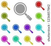 magnifier icon in multi color....