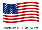 usa national flag. united...   Shutterstock .eps vector #1236859525