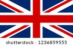 great britain flag. united... | Shutterstock .eps vector #1236859555