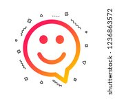 happy face chat speech bubble... | Shutterstock .eps vector #1236863572