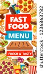 fast food pizza  burgers and...   Shutterstock .eps vector #1236863782