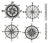 compass wind rose monochrome... | Shutterstock .eps vector #1236866062