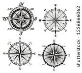 compass wind rose monochrome... | Shutterstock .eps vector #1236866062