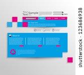 abstract web design | Shutterstock .eps vector #123686938