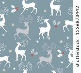 seamless christmas pattern with ...   Shutterstock .eps vector #1236873442