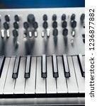 metallic analog synthesizer ... | Shutterstock . vector #1236877882