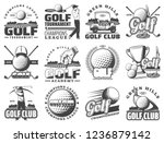 golf club sport icons and... | Shutterstock .eps vector #1236879142