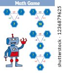 mathematics educational game... | Shutterstock .eps vector #1236879625