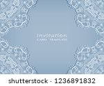 invitation or card template... | Shutterstock .eps vector #1236891832