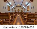a small catholic chapel in...   Shutterstock . vector #1236896758
