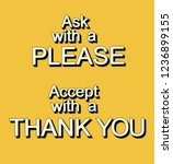 a please and thank you... | Shutterstock . vector #1236899155