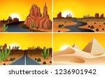 set of desert landscape... | Shutterstock .eps vector #1236901942