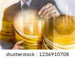 modern way of exchange. bitcoin ...   Shutterstock . vector #1236910708