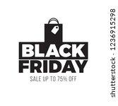 black and white black friday... | Shutterstock .eps vector #1236915298
