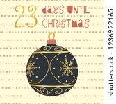 23 days until christmas vector... | Shutterstock .eps vector #1236922165