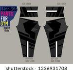 leggings pants for gym | Shutterstock .eps vector #1236931708