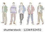 fashion illustration of the man   Shutterstock .eps vector #1236932452