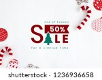 50  christmas sale sign mockup | Shutterstock . vector #1236936658