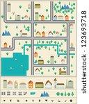 city builder vector elements. | Shutterstock .eps vector #123693718
