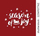 merry christmas calligraphic... | Shutterstock .eps vector #1236937762