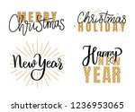 happy new year and merry... | Shutterstock .eps vector #1236953065