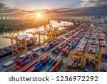 logistics and transportation of ... | Shutterstock . vector #1236972292