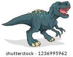 tyrannosaurus rex vector... | Shutterstock .eps vector #1236995962