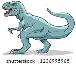 tyrannosaurus rex vector... | Shutterstock .eps vector #1236995965