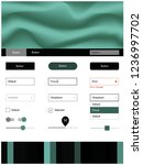 dark green vector ui kit with...