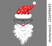 funny mask with christmas santa ... | Shutterstock .eps vector #1236998695