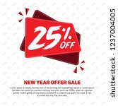 25  off 25  percent off 25 ... | Shutterstock .eps vector #1237004005