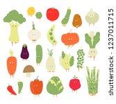 various organic vegetable... | Shutterstock .eps vector #1237011715