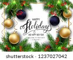 holidays greeting card for... | Shutterstock .eps vector #1237027042