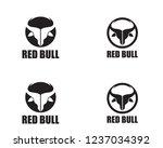 bull horn head logo   Shutterstock .eps vector #1237034392