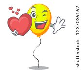 with heart character yellow... | Shutterstock .eps vector #1237036162