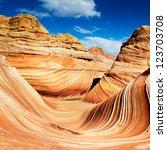 the wave in arizona  rocky... | Shutterstock . vector #123703708