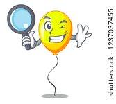 detective yellow balloon air in ... | Shutterstock .eps vector #1237037455