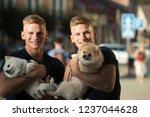 family bonding time. twins men...   Shutterstock . vector #1237044628