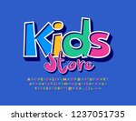 vector colorful logo kids store.... | Shutterstock .eps vector #1237051735