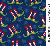 christmas seamless pattern with ... | Shutterstock .eps vector #1237052485