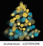 tree with color  bright circles | Shutterstock . vector #1237059298