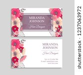 business card with beautiful... | Shutterstock .eps vector #1237063972