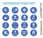 database vector icon set | Shutterstock .eps vector #1237089775