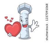 with heart bolts cartoon on... | Shutterstock .eps vector #1237091068