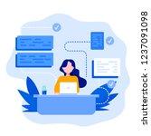 software development and... | Shutterstock .eps vector #1237091098