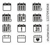 calendar icon set vector on... | Shutterstock .eps vector #1237093048