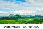landscape mountain and blue sky ... | Shutterstock . vector #1237098022
