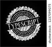 typescript chalkboard emblem on ... | Shutterstock .eps vector #1237099075