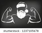 santa claus strongman  sport ... | Shutterstock .eps vector #1237105678