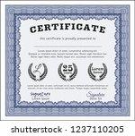 blue certificate of achievement ...   Shutterstock .eps vector #1237110205
